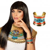 Festivalshop - Armband flow in the Nile goud/blauw/rood - BO64519