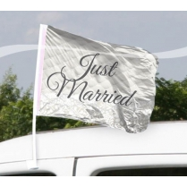 Festivalshop - Auto Vlag Just Married  2St - FO21370
