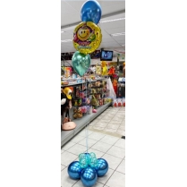 Festivalshop - Ballonboeket happy birthday chrome - FSBD0047