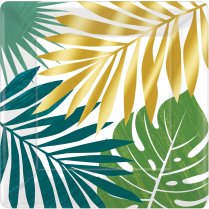 Festivalshop - Borden Key West met palmbladeren - AM592283