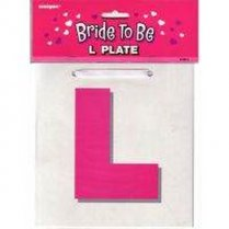 Festivalshop - Bride to Be L Plate - 12612