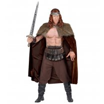 Festivalshop - Cape met nepbont warrior viking one size - WD68587