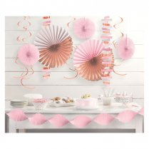 Festivalshop - Decoratie set pink - rosé goud - AM242681