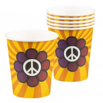 Festivalshop - Drinkbekers flower power - BO44531