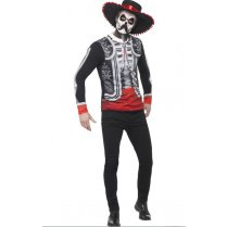 Festivalshop - El Senor Day of the Dead Shirt met Hoed - SM44933