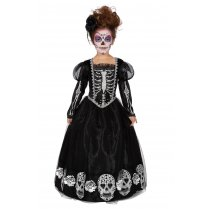 Festivalshop - Jurk Kind Day Of The Dead Zwart/Zilver - WI3862