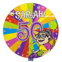 Festivalshop - LED Party Button Sarah 50 jaar - FO22487