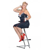 Festivalshop - Rockabilly 50′s jurk Anchors away navy - WI320407